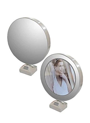Kitchen Love Sihirli Yuvarlak Ayna/Resim Çerçevesi-Pil&Usb- Beyaz